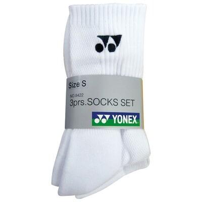 Yonex Men's Socks - White - 3 Pairs