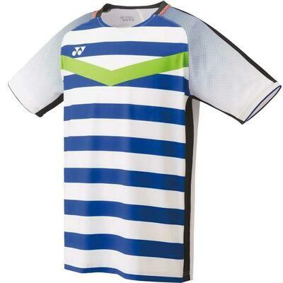 Yonex Men's Crew Neck Shirt 10274EX - White/Blue