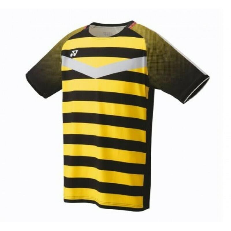 Yonex Men's Crew Neck Shirt 10274EX - Black/Yellow