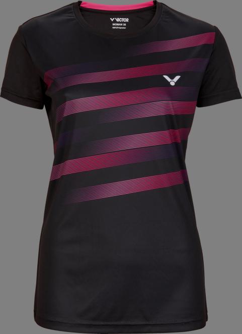 Victor Team Line T-Shirt Ladies - Black