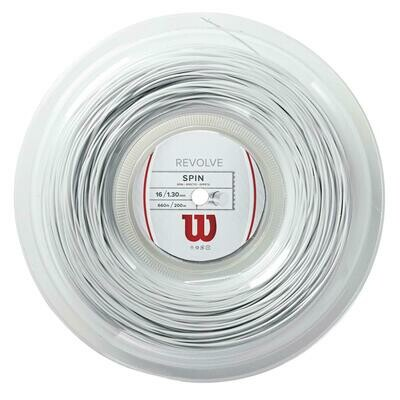 Wilson Revolve 16 Tennis String 200m Reel - White