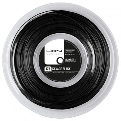Luxilon Savage 127 Tennis String 200m Reel - Black