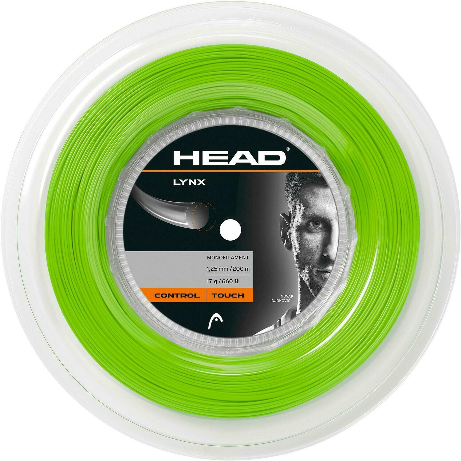 Head Lynx 200m Reel Tennis String - Green