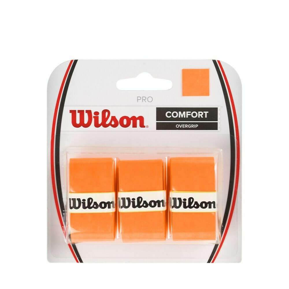 Wilson Pro Comfort Overgrip Orange - 3 Pack
