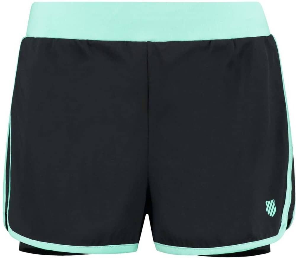 K-Swiss Hypercourt Ladies Short - Black/Algiers Blue