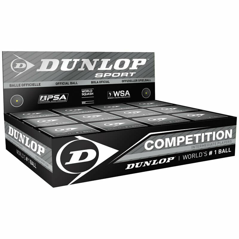 Dunlop Competition Squash Ball - Dozen