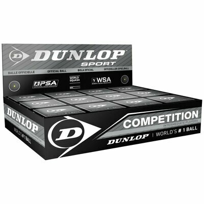 Dunlop Competition Squash Ball - Dozen