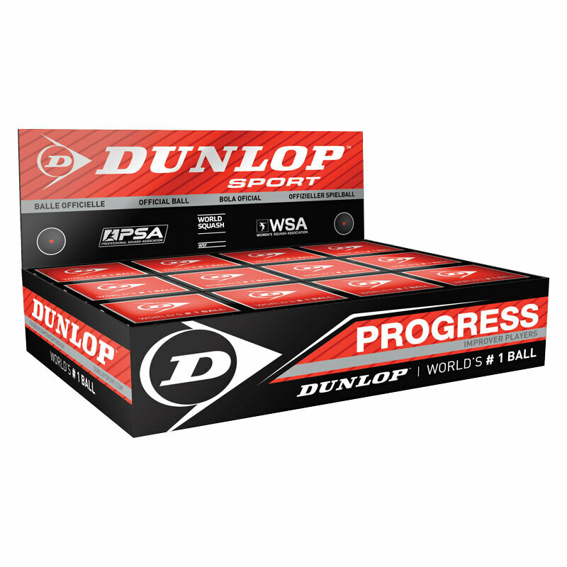 Dunlop Progress Squash Ball - Dozen