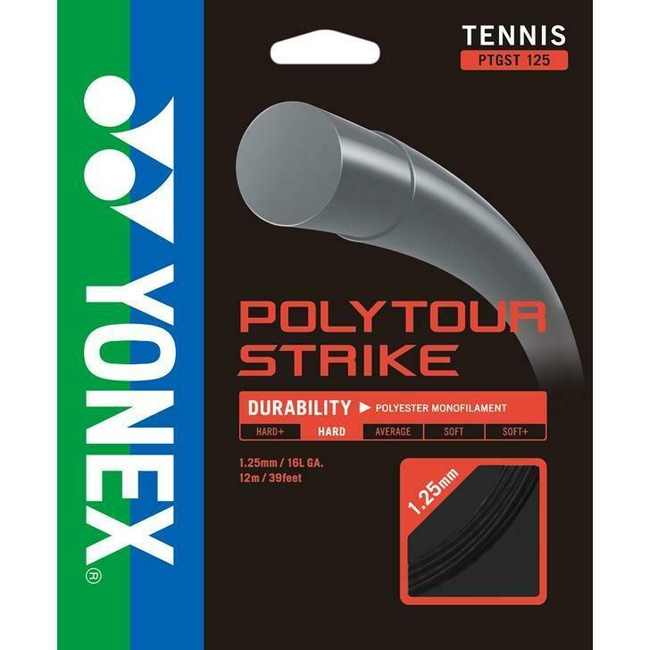 Yonex PolyTour Strike Tennis String Set - Iron Grey