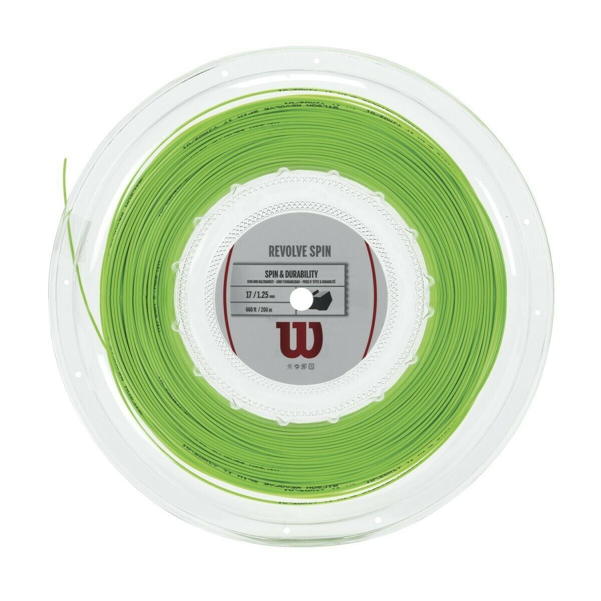 Wilson Revolve Spin 16 Tennis String 200m Reel - Green