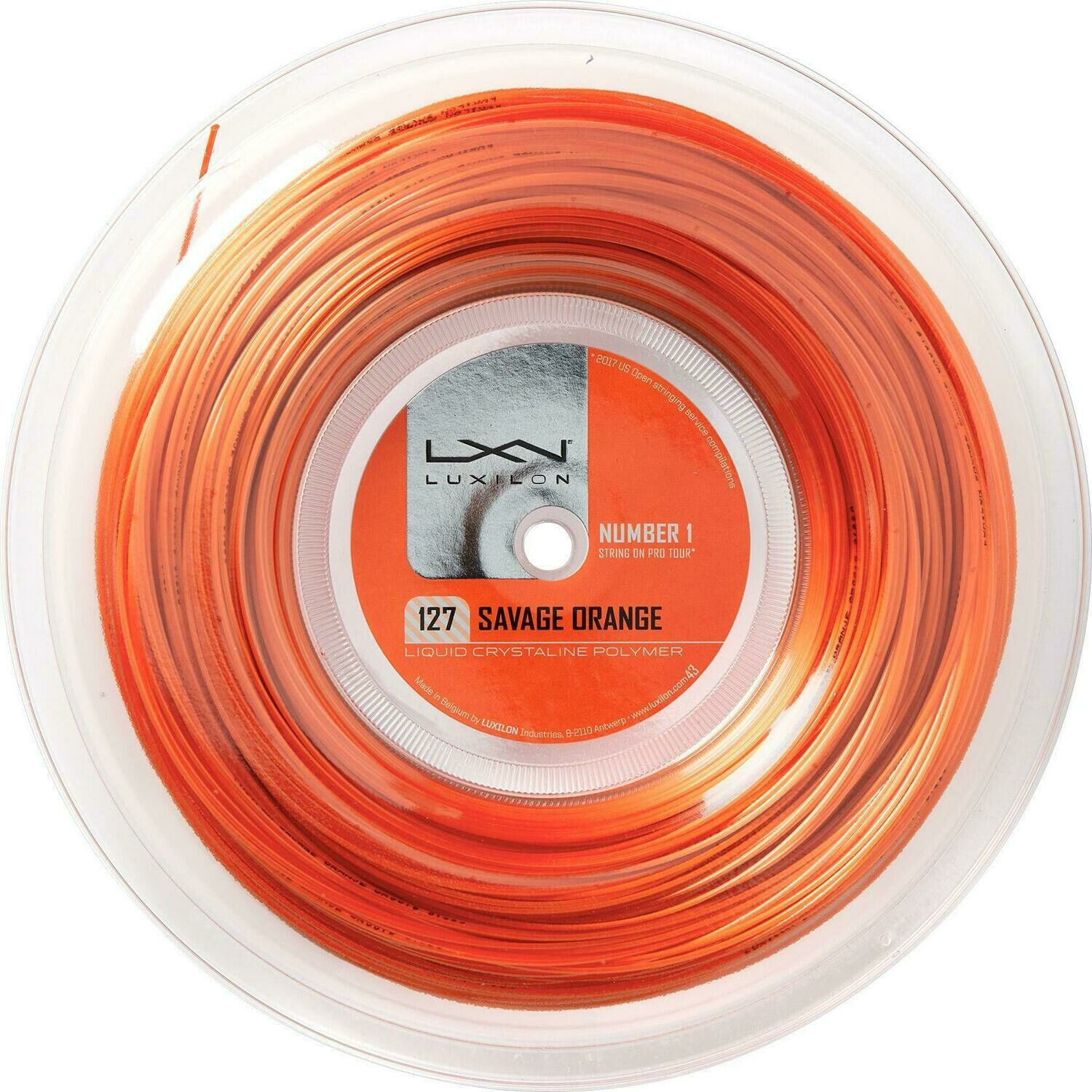 Luxilon Savage 127 200m Reel - Orange