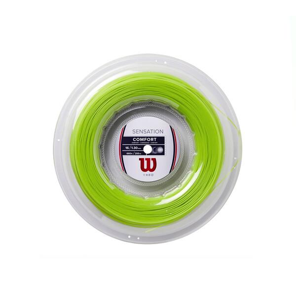 Wilson Sensation Comfort Tennis String 200m Reel - Neon Green