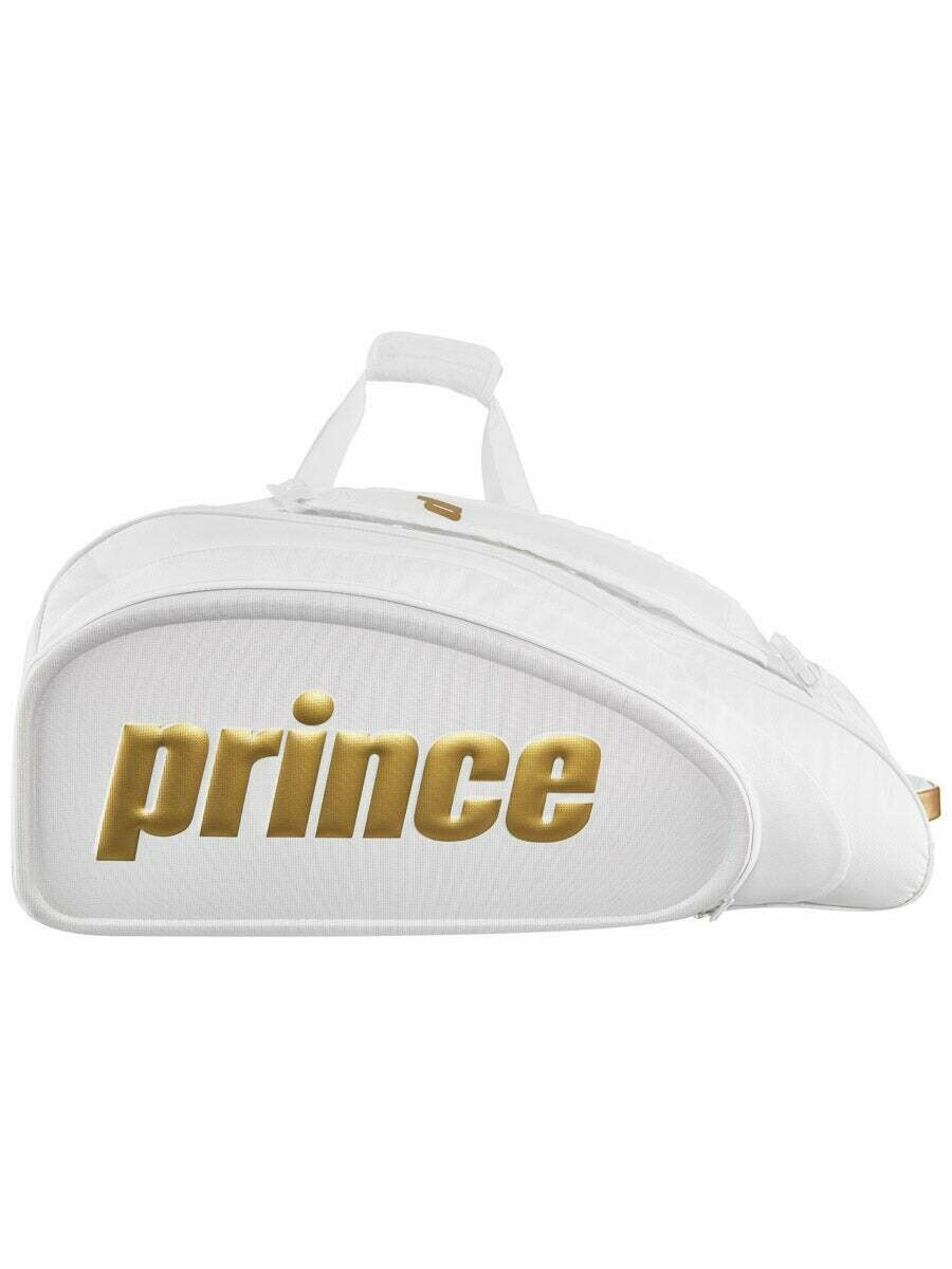 Prince O3 Heritage Tennis Bag - White/Gold