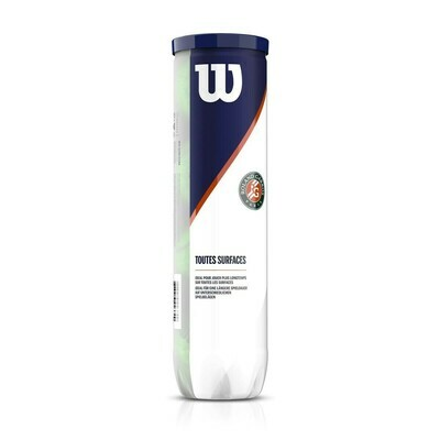 Wilson Roland Garros All Court Tennis Balls - 4 Ball Tube
