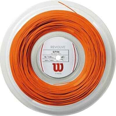 Wilson Revolve 16 Tennis String 200m Reel - Orange