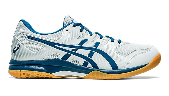 Asics Gel Rocket 9 Court Shoes - Glacier Grey/Mako Blue