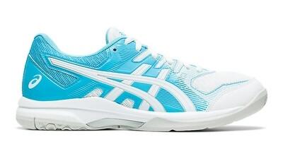 Asics Gel Rocket 9 Womens Court Shoes - White/Aquarium