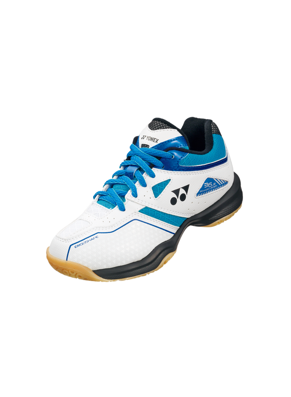 Yonex Power Cushion 36 Junior Badminton Shoes - White/Blue