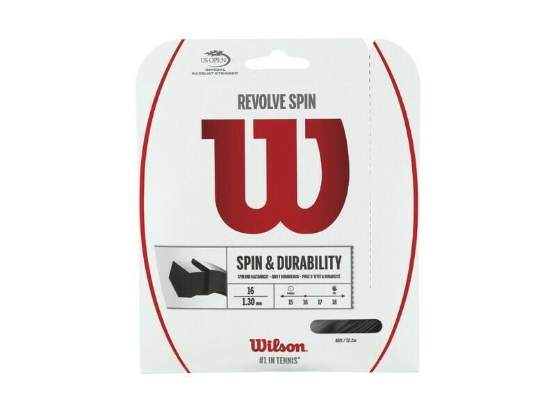 Wilson Revolve Spin 16 Tennis String Set - Black