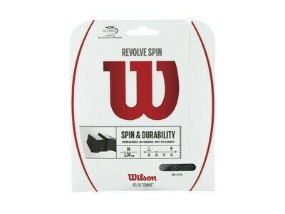 Wilson Revolve Spin 16 Tennis String Set - Black