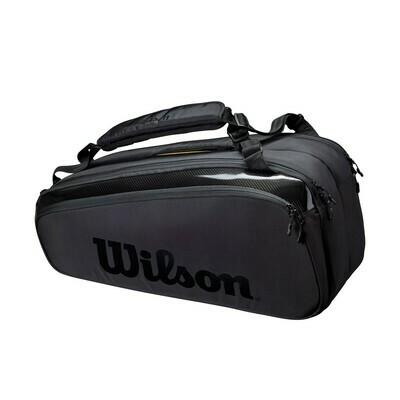 Wilson Super Tour Pro Staff 9 Pack Tennis Bag - Black