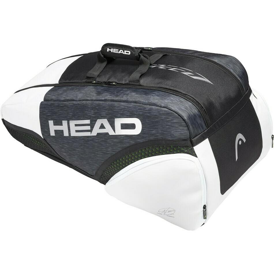 Head Djokovic 9R Supercombi Bag - Black/White