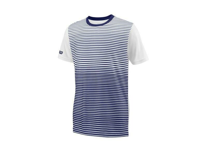 Wilson Boys Team Striped Crew - Blue Depths