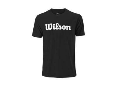 Wilson Mens Script Tech Tee - Black