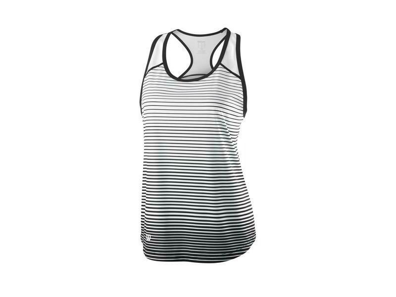 Wilson Womens Team Striped Tank - Black