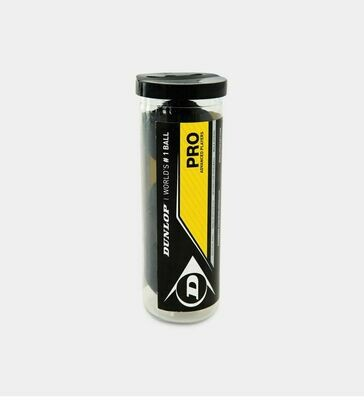 Dunlop Pro Squash Ball - Tube of 3