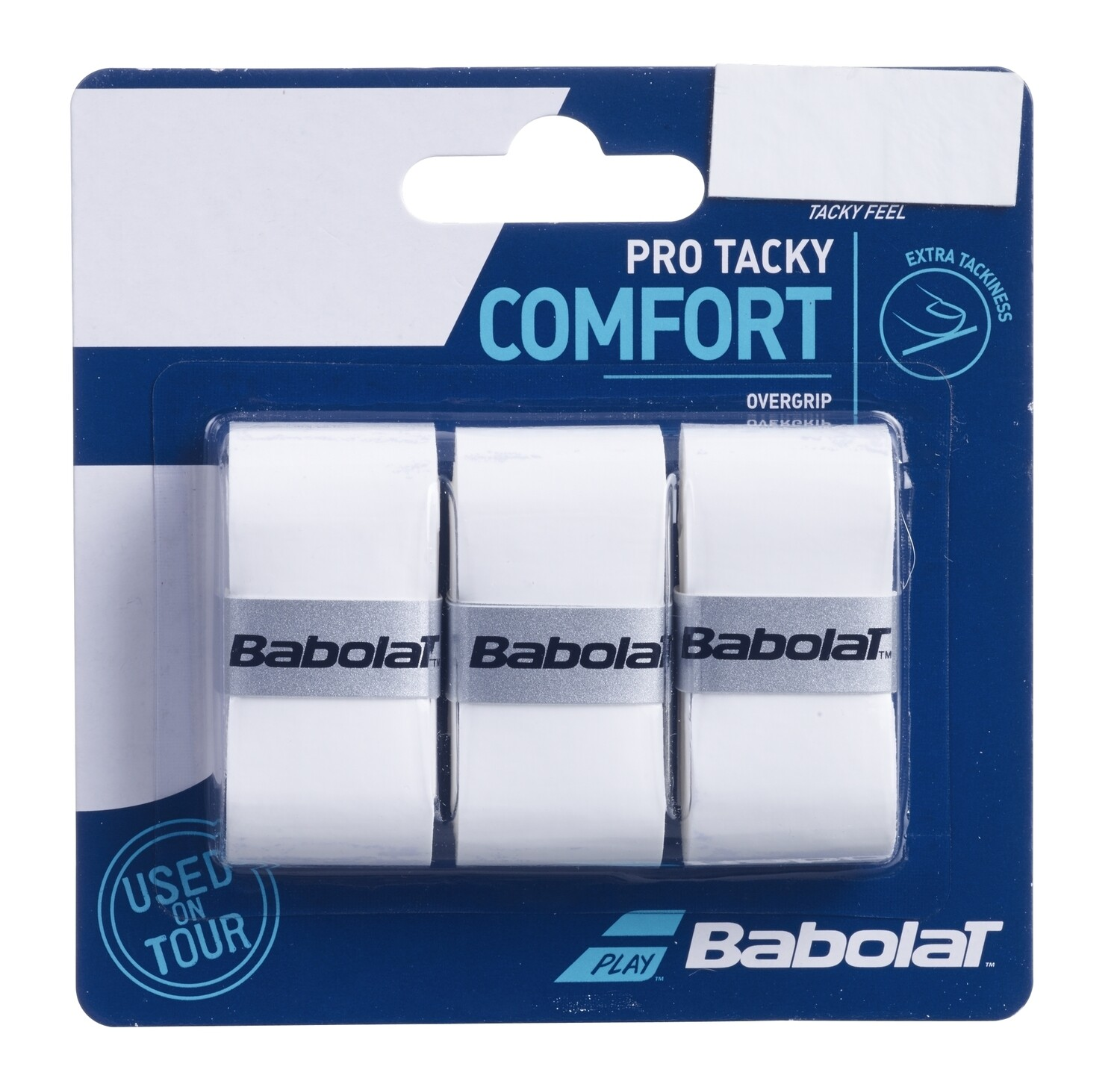 Babolat Pro Tour Comfort Overgrips 3 Pack White