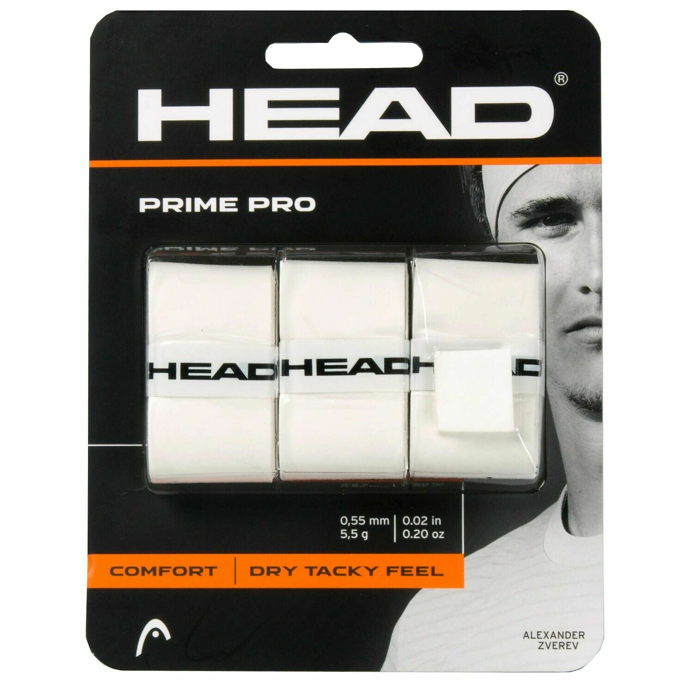 Head Prime Pro Overgrips - White