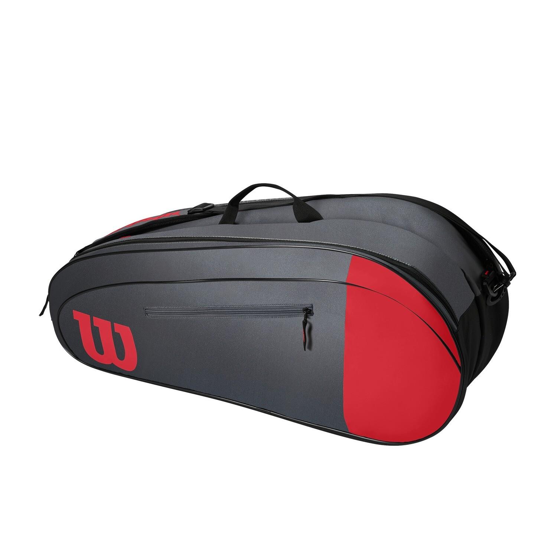 Wilson Team 6 Pack Bag - Red/Grey