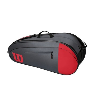 Wilson Team 6 Pack Bag - Red/Grey