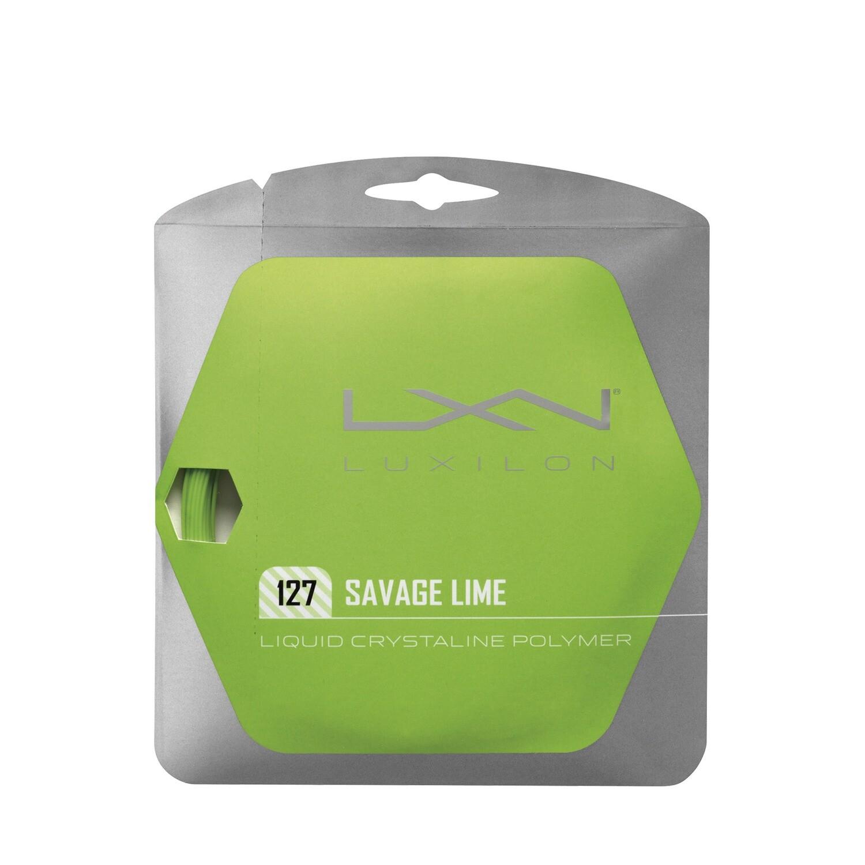 Luxilon Savage 127 Tennis String Set - Lime Green