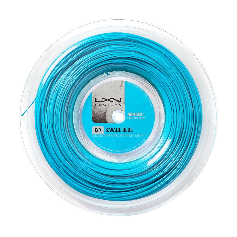 Luxilon Savage 127 Tennis String 200m Reel - Blue