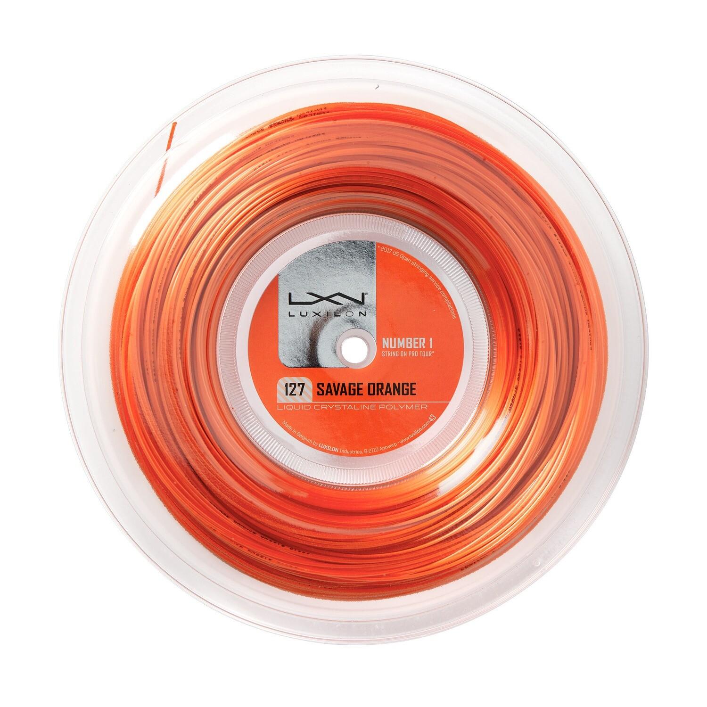 Luxilon Savage 127 Tennis String 200m Reel - Orange
