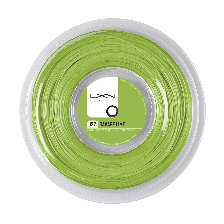 Luxilon Savage 127 Tennis String 200m Reel - Lime Green