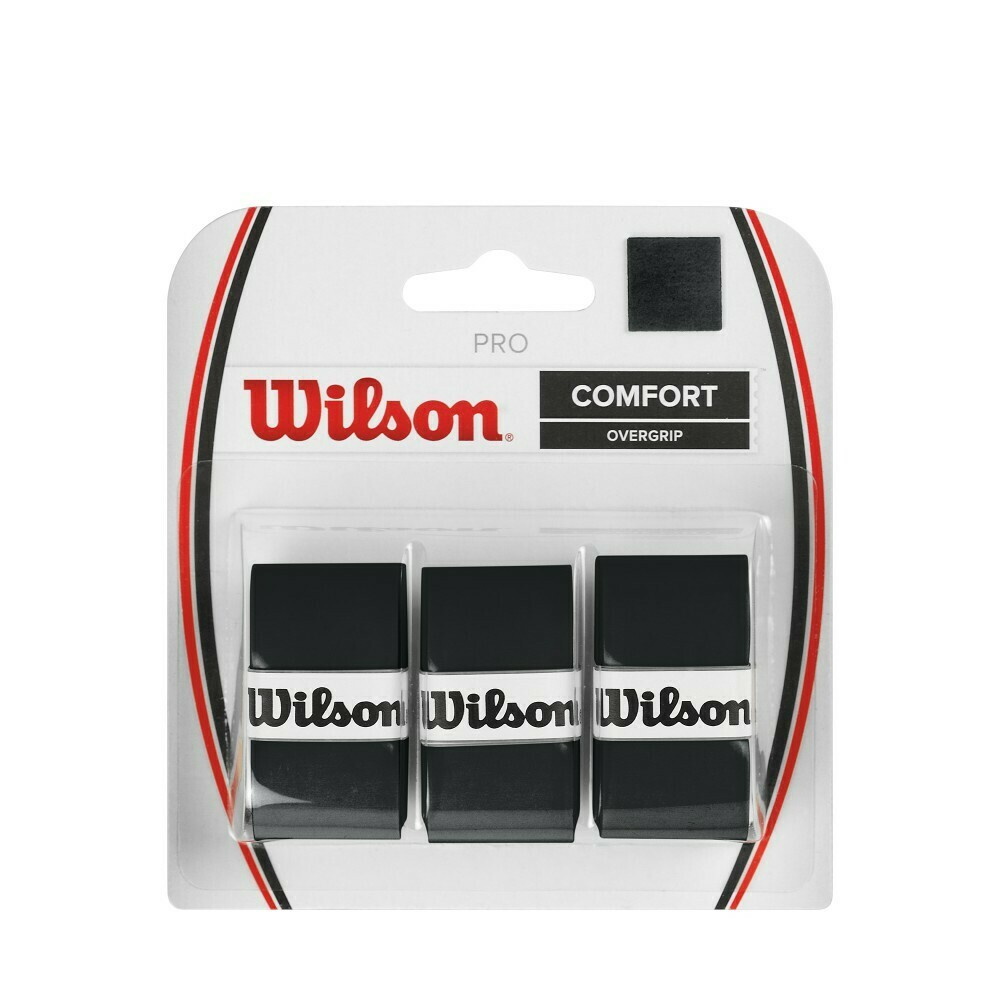 Wilson Pro Comfort Overgrip Black - 3 Pack
