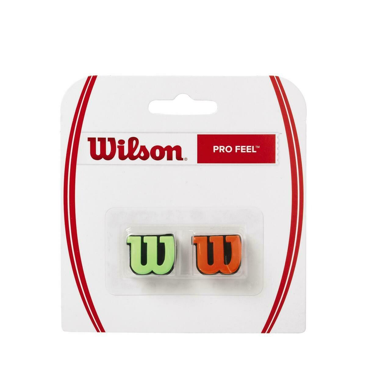Wilson Pro Feel Dampener 2 Pack - Green/Orange