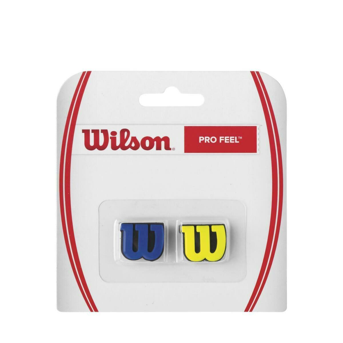 Wilson Pro Feel Dampener 2 Pack - Blue/Yellow
