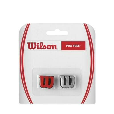 Wilson Pro Feel Dampener 2 Pack - Red/Silver