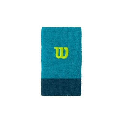 Wilson Extra Wide W Wristbands Pair - Blue