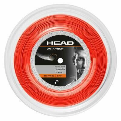 Head Lynx Tour 200m Reel Tennis String - Orange