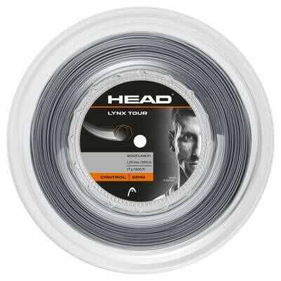 Head Lynx Tour 200m Reel Tennis String - Grey