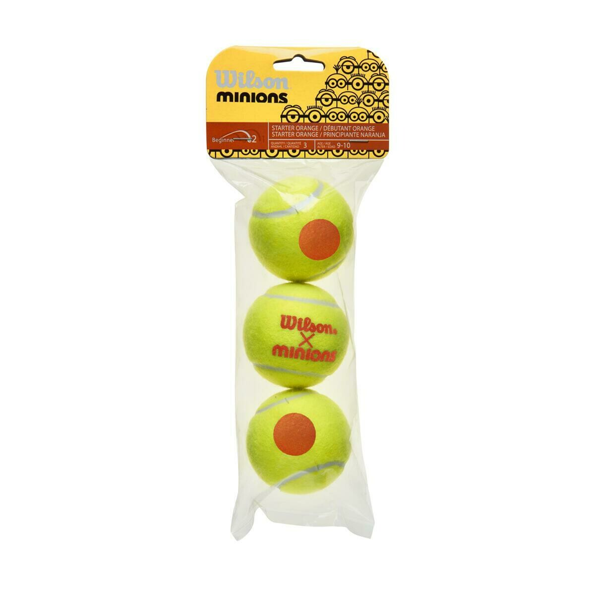Wilson Minions Stage 2 Orange Tennis Balls - 3 Pack