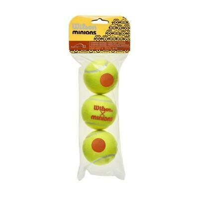 Wilson Minions Stage 2 Orange Tennis Balls - 3 Pack