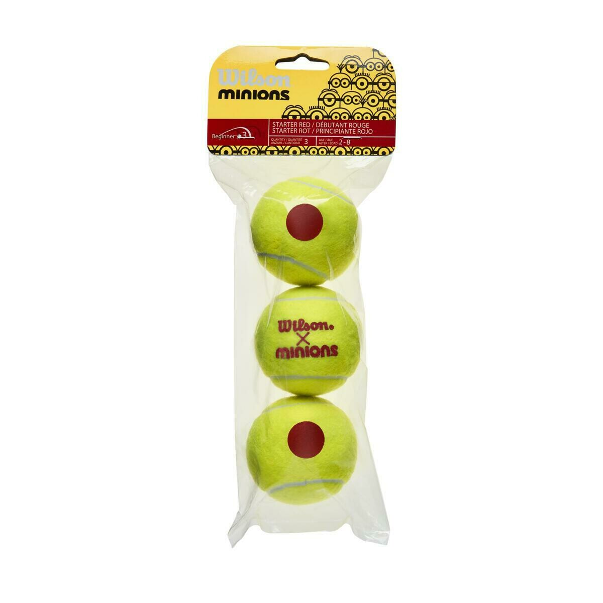 Wilson Minions Stage 3 Tennis Balls - 3 Pack
