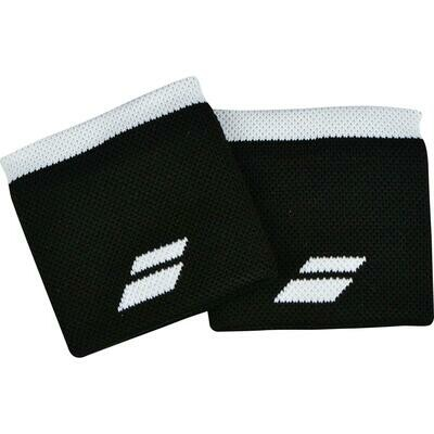 Babolat Logo Wristbands Pair - Black/White