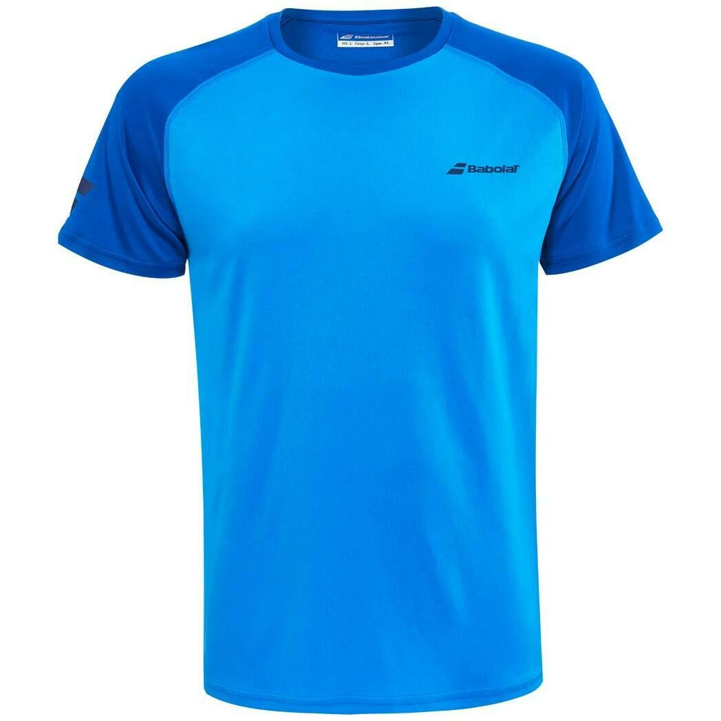 Babolat Mens Play Crew Neck Tee - Blue Aster